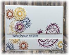 Oksana's Creative Corner: Paisleys & Posies bundle and stamp set  FunStamper.com    Stampin Up