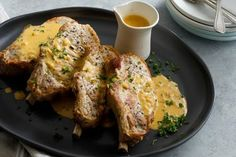 Pork coops with Dijon Sauce