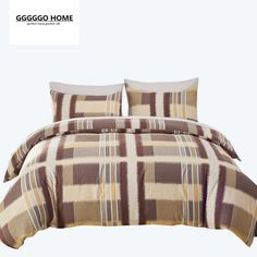 GGGGGO HOME duvet cover set bed set quilt cover bedding set plaid print king/queen/twin/single/double/Europe/family size