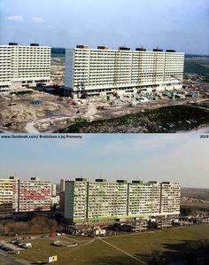 Petržalka Jasovská ulica (Lunačarskeho) 1978-79/2019 Bratislava, News Media, Willis Tower, Skyscraper, Building, Travel, Google, Skyscrapers, Viajes