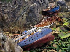 If ever a shipwreck could be described as beautiful, this may be it...