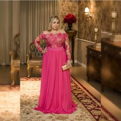 Plus Size Chiffon Prom Dresses With Appliques, Long Evening Dress, Formal Gown on Luulla Plus Size Evening Gown, Long Sleeve Evening Dresses, Formal Evening Dresses, Formal Gowns, Prom Dresses, Dress Formal, Dress Long, Halter Dresses, Summer Dresses