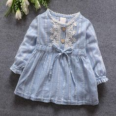 Cheap baby girl dress, Buy Quality baby girl princess dress directly from China baby girl princess Suppliers: 2016 Spring Summer New Cart Baby Girls Dress Long Sleeve Baby Girl Princess Dress Kid Party Clothing Baby solid Dress 809 Baby Girl Party Dresses, Dresses Kids Girl, Baby Dress, Girl Outfits, Dress Party, Dress Girl, Children Dress, Children Clothes, Baby Party