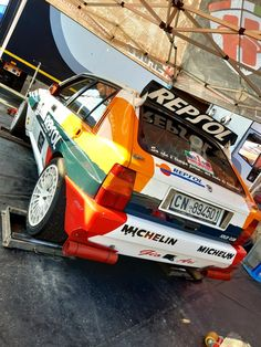 Lancia Delta HF Integrale Gr.A Lancia Delta, Rally Car, Monster Trucks, Racing, Cars, Vehicles, Autos, Running, Auto Racing