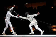 Just started fencing. J'adore :)