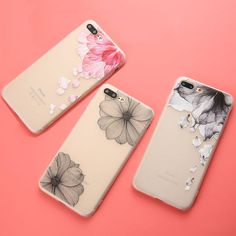 3D Relief Flower TPU Phone Cases For iphone 7 6 6s Plus
