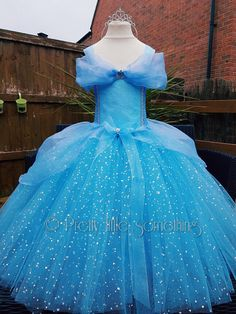 Cinderella inspired tutu dress costume party