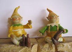 2 Wichtel Mann & Frau Pärchen Gnom Troll Garten Beet Deko Figur Paar Skulptur