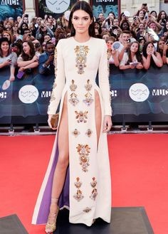 Kendall Jenner style: Check out the star's latest scandalous red carpet dress! via @Who What Wear
