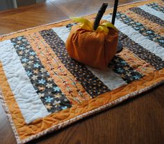 Boy, Oh Boy, Oh Boy!: Autumn Quilted Table Runner