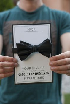 Your service as a groomsman is required