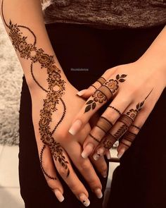 "Dimple Queen on Instagram: ""Mehndi Designs.. Which one 1- 5? Follow @itx_dimple Follow @itx_dimple Follow @itx_dimple (for more videos and photos) Like 10 Posts &…"""