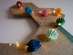Origami Paper Lights by HandmadeAMJ on Etsy