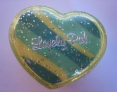 Lovely Pal cased heart eraser (Iron Lace) Tags: cute japan heart eraser kitsch 80s kawaii 1980s stationery erasers gommes ribbonco lovelypal
