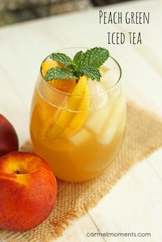 Peach Green Iced Tea- super refreshing and summery! Peach Green Iced Tea- super refreshing and summery! Green Tea Recipes, Iced Tea Recipes, Iced Sweet Green Tea Recipe, Iced Peach Green Tea Lemonade Recipe, Summer Recipes, Drink Recipes, Strawberry Lemonade, Water Recipes, Smoothies