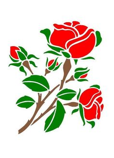 ROSES Airbrush, Wall Art,Paint Stencil, Genuine Mylar Re-Useable A3 & A4