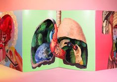 """""""The Human Box"""" is a work by the Barcelona-based graphic designer Marina Salazar. This pop up book is the third artist's book, it is a unique piece and was made 100 % manually. It talks about the duality between body and mind ; the body is represented by the anatomy and mind with surreal situations and the characters."""