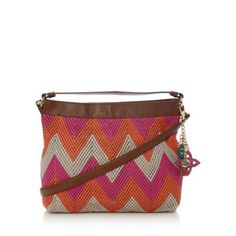 7bf448c6a3 Butterfly by Matthew Williamson Designer pink zig zag weave leather across  body tote bag- at Debenhams.com