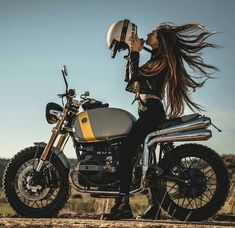Photos are not mine unless other wise stated Motos Bmw, Bmw Motorcycles, Triumph Motorbikes, R65, Scrambler Custom, Cafe Racer Motorcycle, Bmw Scrambler, Motorbike Girl, Women Motorcycle