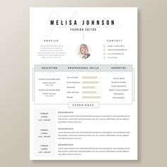 Modern Day Resume Creative Resume Template In Microsoft Wordcv With Modern .