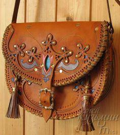 "leather tooled handbag  - kooc: Сумочка ""Весна"""