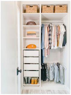 Wardrobe Room, Wardrobe Design Bedroom, Closet Bedroom, Small Wardrobe, Small Closets, Tiny Closet, Closet Renovation, Closet Remodel, Small Room Design