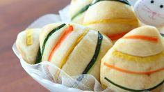 Easter brioche bread buns with ham & cheese recipe