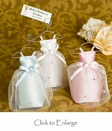 4 Bridesmaid Scented Sachet / Place Card Holder Favors