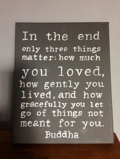 Buddha Quote Hand Pointed Wall Art by livingstonandporter on Etsy