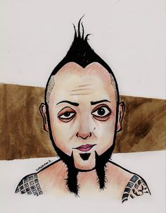 Portre Karikatür: Hayko Cepkin Karikatür Caricature, Psychedelic, Pop Art, Disney Characters, Fictional Characters, Rock, Disney Princess, Illustration, Artist
