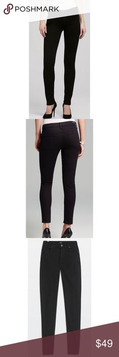 CCO Sale Citizens of Humanity Avedon Skinny Jeans Size 27 black skinny slick  leg jeans. Low rise. Shows no signs of wear. Citizens of Humanity Jeans Skinny
