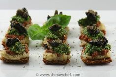 Mini flax pizza bites great thing to bring to New Year's party as an alternative to the unhealthy fare...