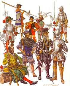Painting guide for the Great Italian Wars and Spanish Conquistadores in the New World. It covers: Spanish Infantry, Spanish Cavalry, Italian, German/Landsknecht, Swiss. Renaissance, Military Art, Military History, Landsknecht, Late Middle Ages, Warhammer Fantasy, High Fantasy, 16th Century, Warfare