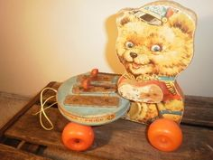 Fischer Price 1966 Bear Pulltoy Musical by NewLoveOldTaste on Etsy, $12.00