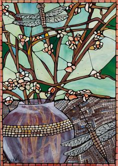 Dragonfly Art Print  Stained Glass Original Fine by VeroHappyArt, $15.00