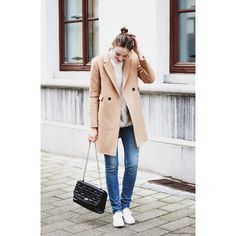 CAMEL COAT ❤ liked on Polyvore featuring outerwear, coats and camel coat
