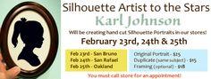 silhouette artist to the stars - karl johnson