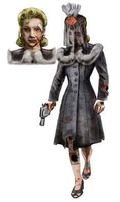 Bioshock  I think this enemey is called Baby Jane