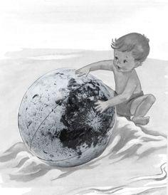 The Luna Ball is a big inflatable moon. Plastic, Painting, Art, Art Background, Painting Art, Kunst, Paintings, Gcse Art