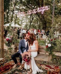 Wedding Trends 18 Neon Wedding Signs for Rad Couples Wedding Props, Tent Wedding, Wedding Signage, Wedding Ceremony, Wedding Venues, Fall Wedding, Rustic Wedding, Wedding Locations, Perfect Wedding