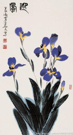 Xiao Shufang's painting--Iris