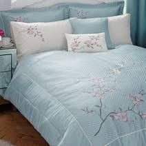 Duck Egg Misaki Bedspread