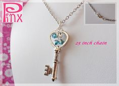 Sparkles Key Necklace by Pinx Jewelry by pinxjewelry on Etsy, $20.00