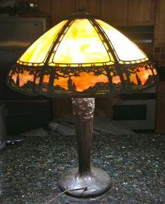 Arts Crafts Handel Table Lamp | eBay
