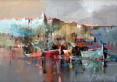 Branko Dimitrijevic - Night, Oil on canvas, 25x35cm #abstractart
