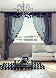 40 Amazing Woodworking Curtains Ideas – Decor Units in 2020 Bedroom Curtains With Blinds, Fancy Curtains, Elegant Curtains, Curtains Living, Elegant Living Room, Living Room Modern, Living Room Decor, Bedroom Bed Design, Home Room Design