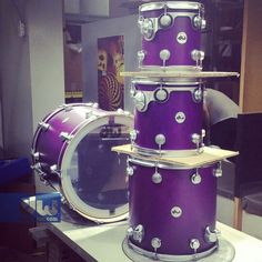 Purple DW drums