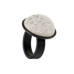 Fingerring Keramik 300-10-SW h kollektion Schmuck