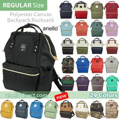 Japan Anello Polyester Canvas Backpack Rucksack AT-B0193A Free delivery  shipping to worldwide 3eca72adc8db4