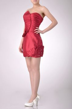 Taffeta Strapless Short Cocktail Dress Price : $209.99 Free Shipping!